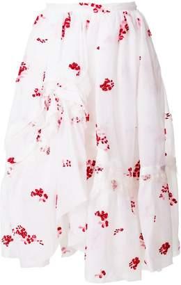 Ermanno Scervino floral embellished skirt