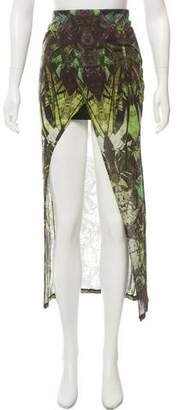 Helmut Lang Printed Midi Skirt