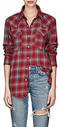 Etoile Isabel Marant Women's Divana Plaid Cotton Flannel Blouse - Red