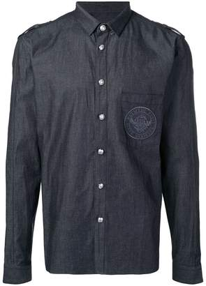 Balmain Cotton shirt with embroidered medallion
