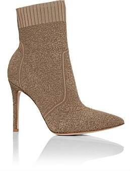 Gianvito Rossi Knitted Pointed Ankle Boot
