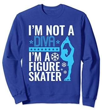 Figure Skating Sweatshirt Gifts Women Silhouette Diva