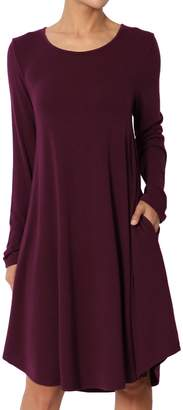 Ash TheMogan Women's Sleeveless Trapeze Knit Pocket T-Shirt Dress Charcoal M