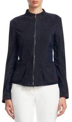 Emporio Armani Suede Moto Jacket