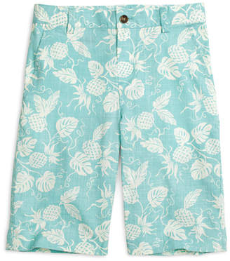 Brooks Brothers Boys Pineapple Print Shorts