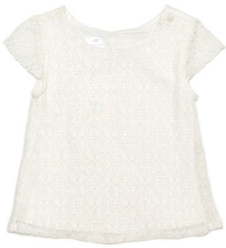Kardashian Kids Girls 2-6x Cap Sleeved Lace Top $28.99 thestylecure.com