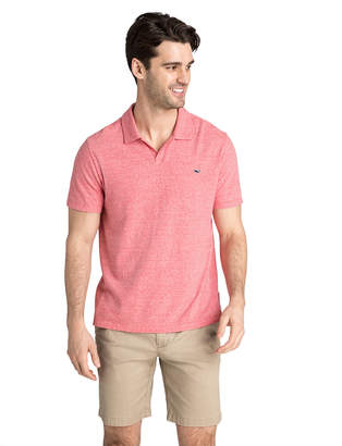 Vineyard Vines Striped Linen Cotton Polo
