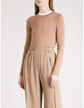 Brunello Cucinelli Metallic-knit cashmere and silk-blend jumper