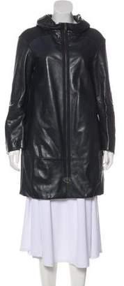 Marni Leather Short Coat