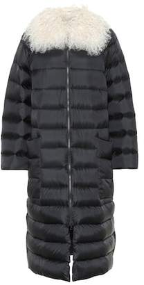 RED Valentino Fur-trimmed down coat