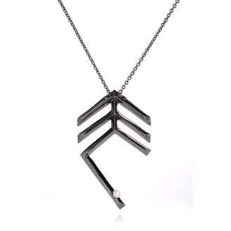 MIU Sonal Bhaskaran Deco Feather Necklace Black