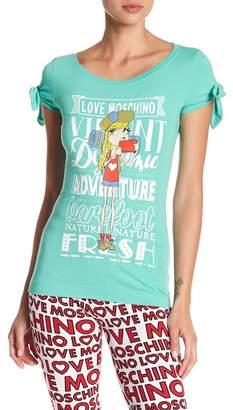 Love Moschino Donnina Bow Graphic Tee