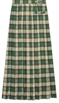Gucci Tartan GG wool maxi skirt