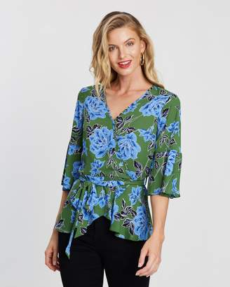 Dorothy Perkins Floral Wrap Top