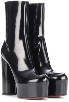 7ac0f4ff5 Vetements Leather platform ankle boots