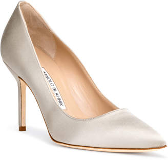 ba70d06b375d Manolo Blahnik BB 90 silver grey satin pumps