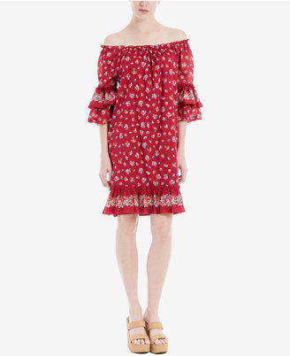 Max Studio London Cotton Ruffled Off-The-Shoulder Dress $128 thestylecure.com