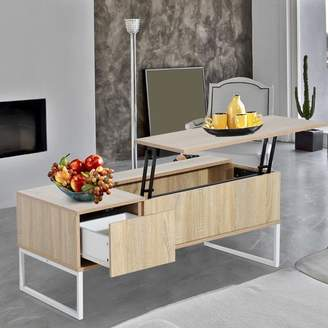 HomCom Modern Lift Top Coffee Table with Storage