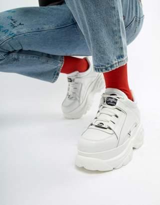 Buffalo David Bitton Classic chunky sole sneakers in white