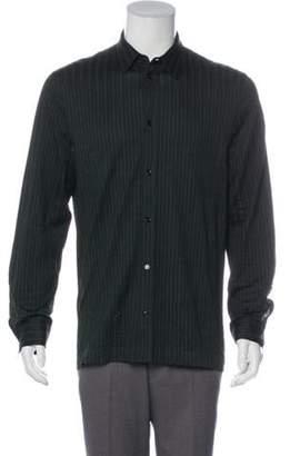 Bottega Veneta Striped Woven Shirt green Striped Woven Shirt