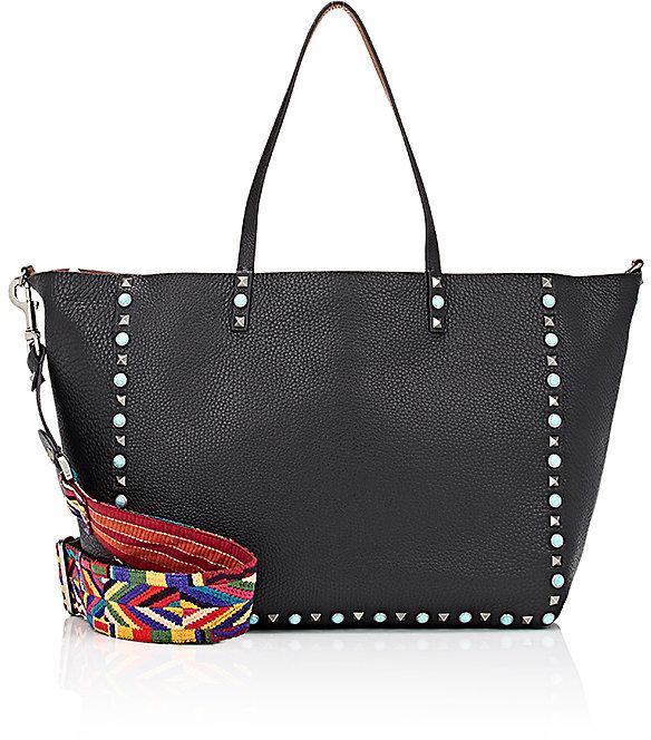 Valentino Women's Rockstud Reversible Medium Tote Bag