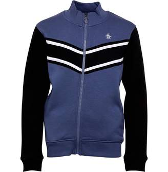 80c20ba211 Original Penguin Junior Boys Zip Through Colour Block Sweatshirt Vintage  Indigo