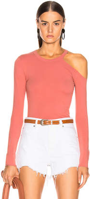 Enza Costa for FWRD Exposed Shoulder Top in Pink Sand | FWRD