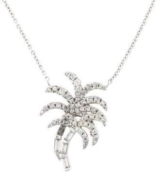 Nigaam 18K Diamond Palm Tree Pendant Necklace