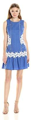 Adelyn Rae Women's Fitted Lace Trim Dress
