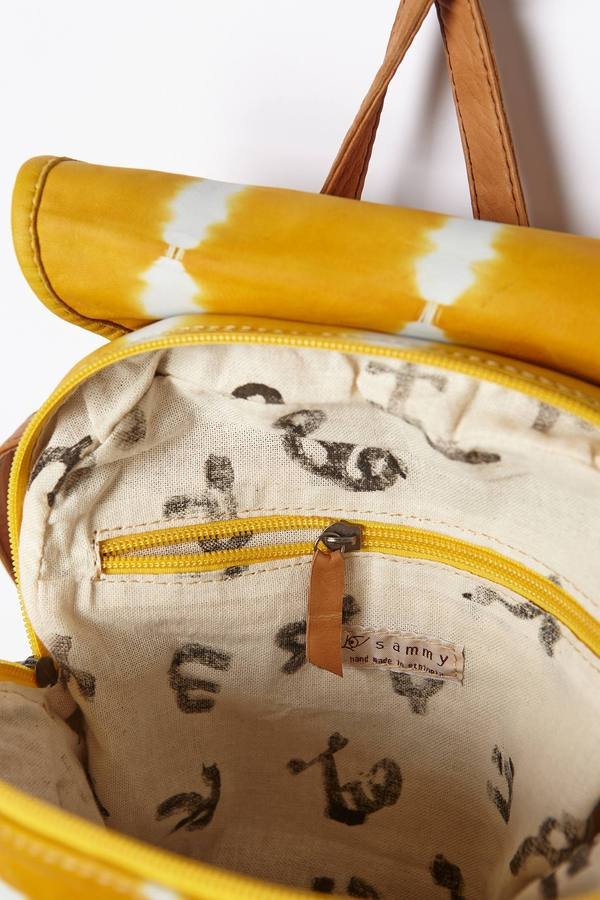 Anthropologie Legend & Song Shibori Leather Backpack