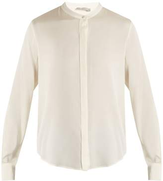 Vince Long-sleeved silk-blend satin shirt