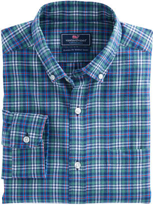 Vineyard Vines Wimer Plaid Performance Flannel Classic Murray Shirt