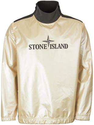 Stone Island Pullover - Iridescent Tela Gold / Black