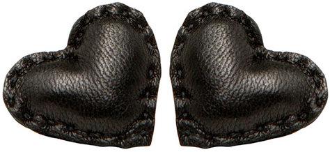 Wendy Nichol Leather Puffy Heart Earrings