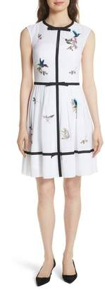 Ted Baker Embroidered High Grove Dress
