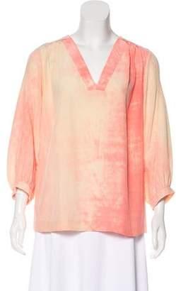 Diane von Furstenberg Long Sleeve Silk Top