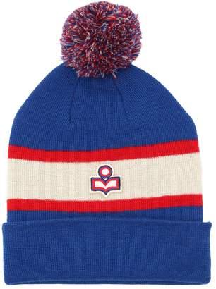 Etoile Isabel Marant Logo Two Tone Wool Knit Hat