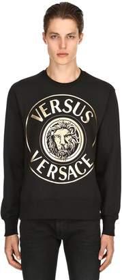 Versus Lion Printed Cotton Sweatshirt
