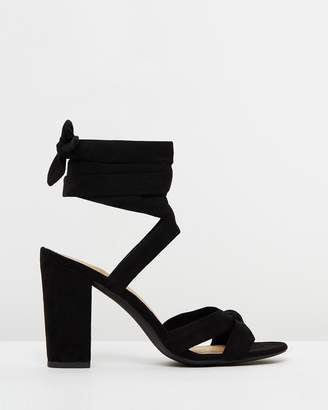 Spurr Evan Lace-Up Block Heels