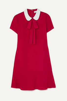 RED Valentino Pussy-bow Crepe De Chine Mini Dress