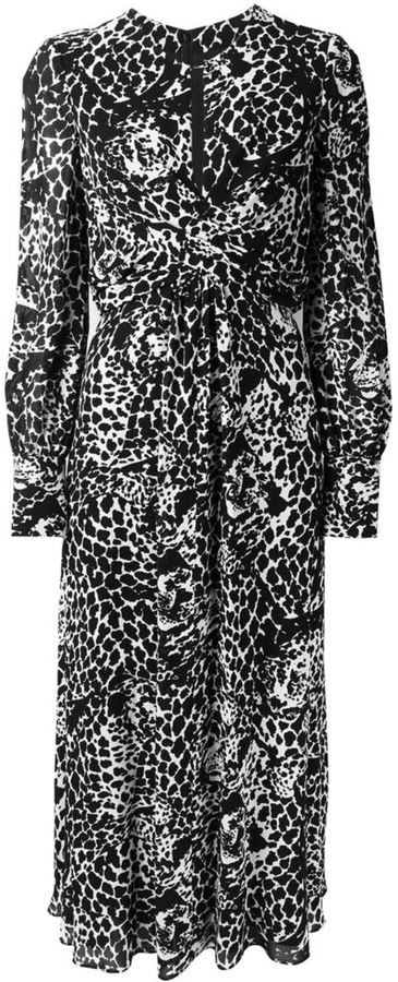 Saint LaurentSaint Laurent tiger print long dress