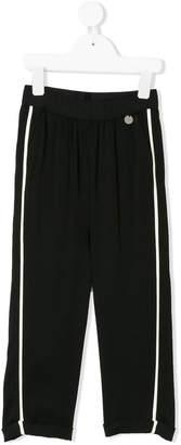 Simonetta contrasting stripes straight trousers