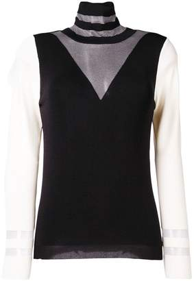 Pinko contrast turtle-neck sweater