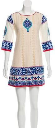 Vineet Bahl Embroidered Mini Dress