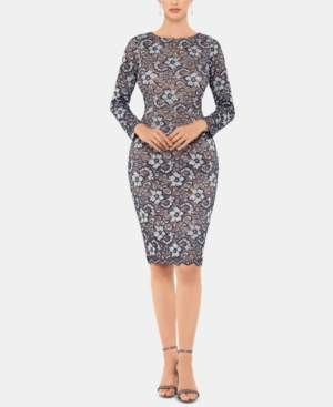 Xscape Evenings Petite Lace Sheath Dress