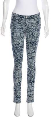 Band Of Outsiders Mid-Rise Skinny Jeans