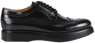 Church's Oxford Shoes Opal Oxford In Polished Leather With Brogue Pattern And High Sole