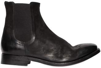 Washed Leather Chelsea Boots