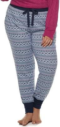 Croft & Barrow Plus Size Fairisle Jogger Pajama Pants