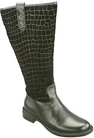 David Tate Extra-Wide-Calf Tall Leather Boots -